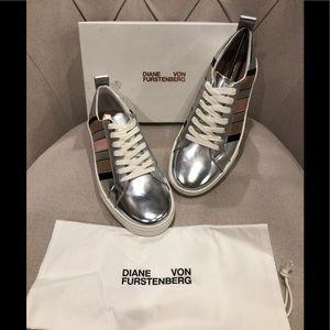 DvF metallic sneakers